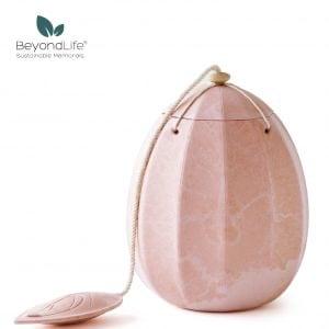 rosa-urna-äggformad